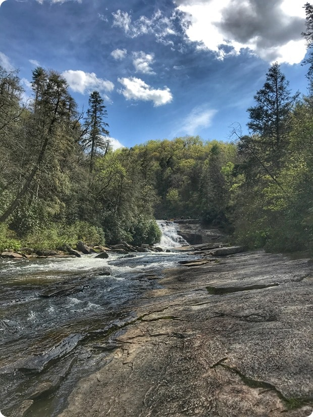 dupont state forest waterfall hike