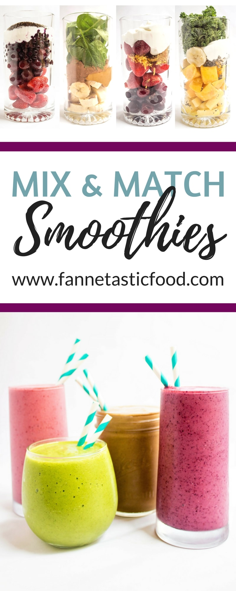 mix and match healthy smoothie recipes