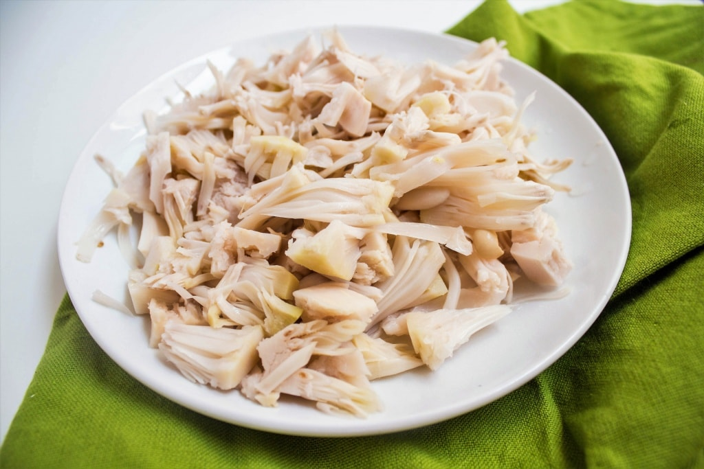 pulled jackfruit on a plate