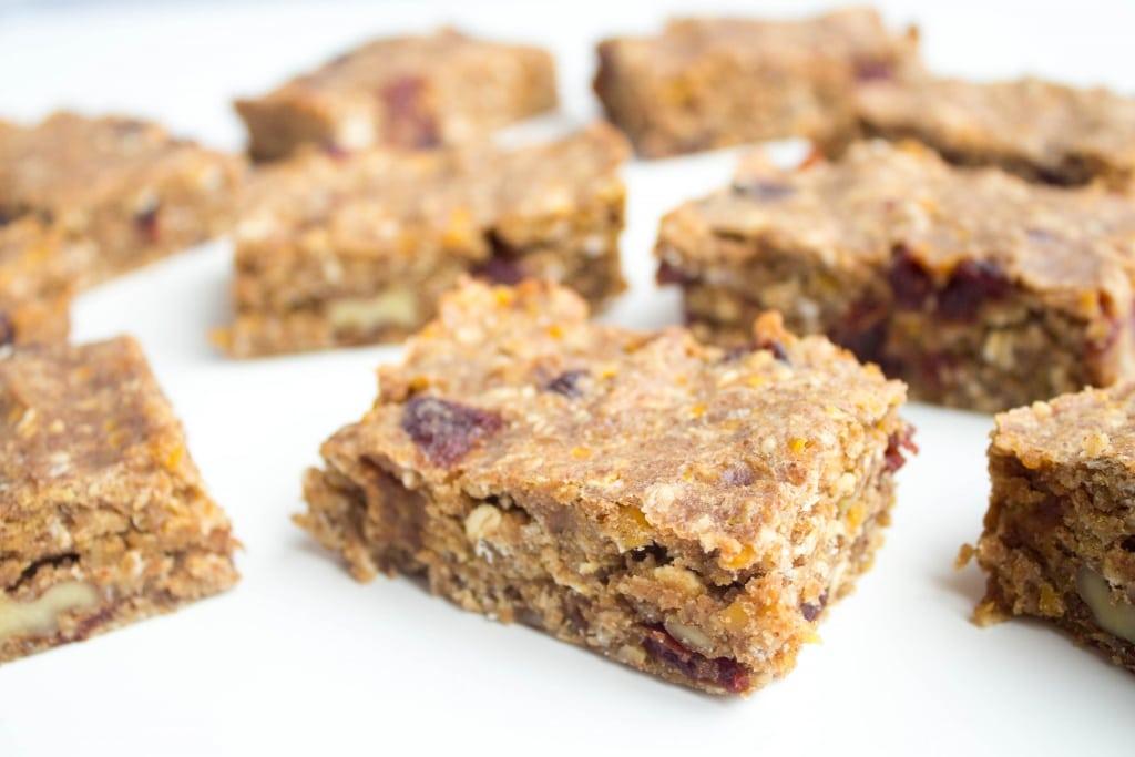 fast easy breakfast lentil granola bars