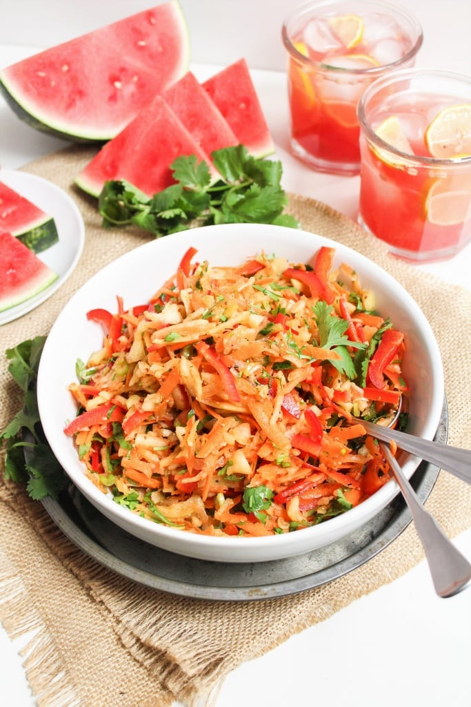 watermelon rind coleslaw recipe