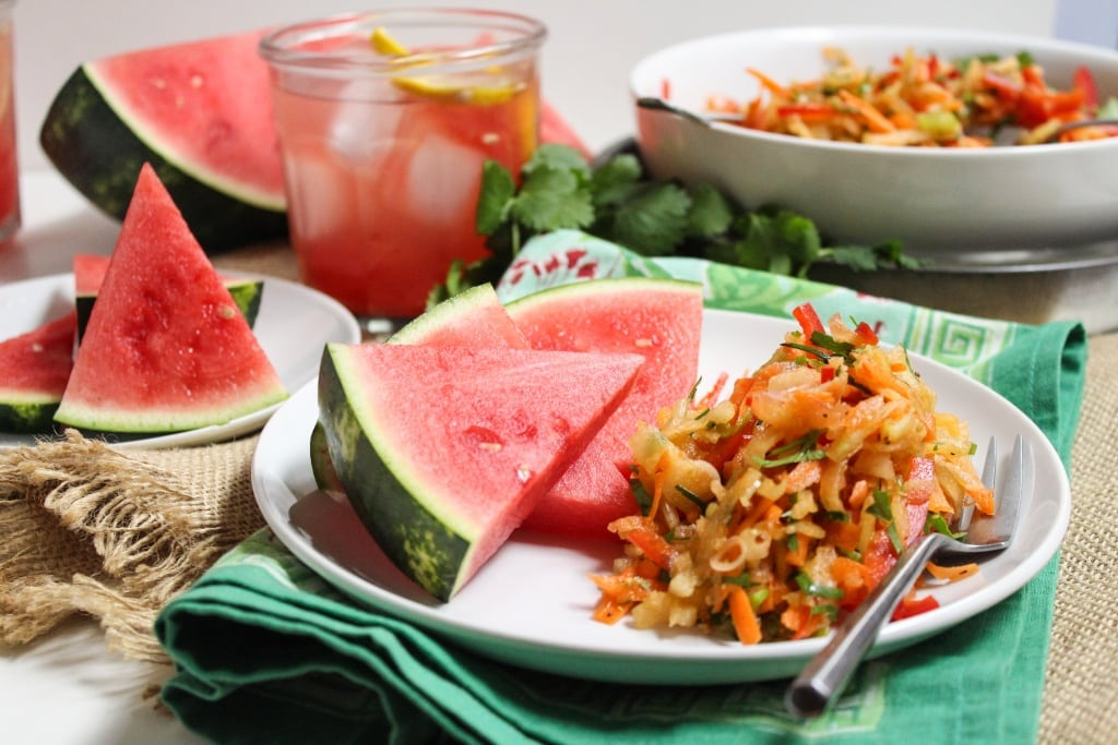 watermelon rind coleslaw recipe