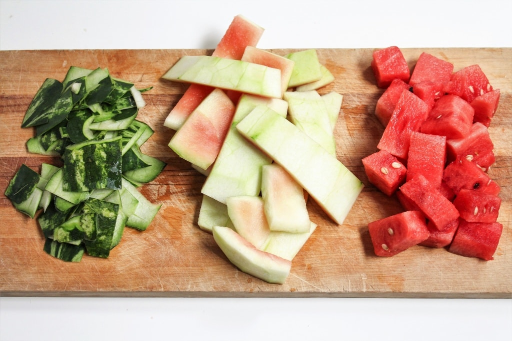 watermelon rind coleslaw recipe how to cut watermelon