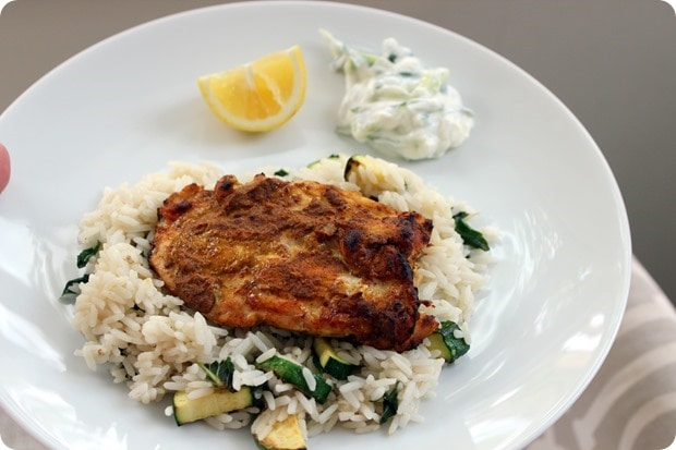 blue apron gluten free chicken with rice