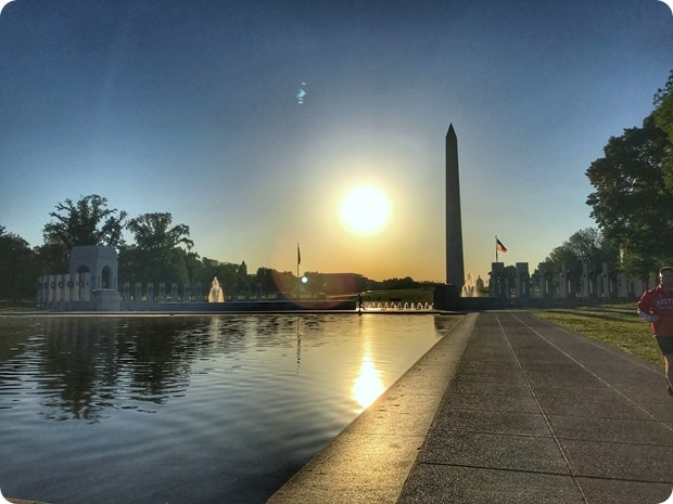 world war II memorial sunrise