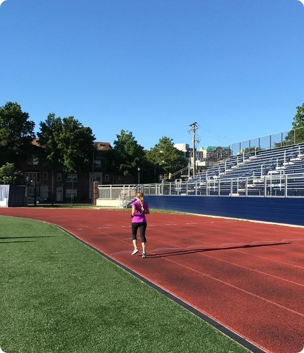 training at washington lee track