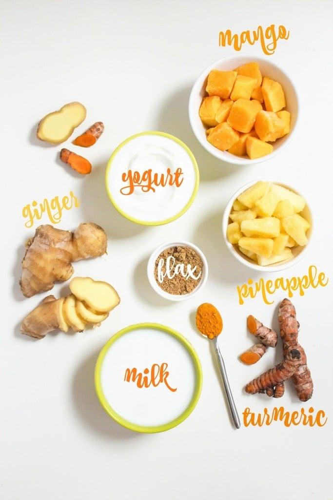 turmeric ginger smoothie ingredients