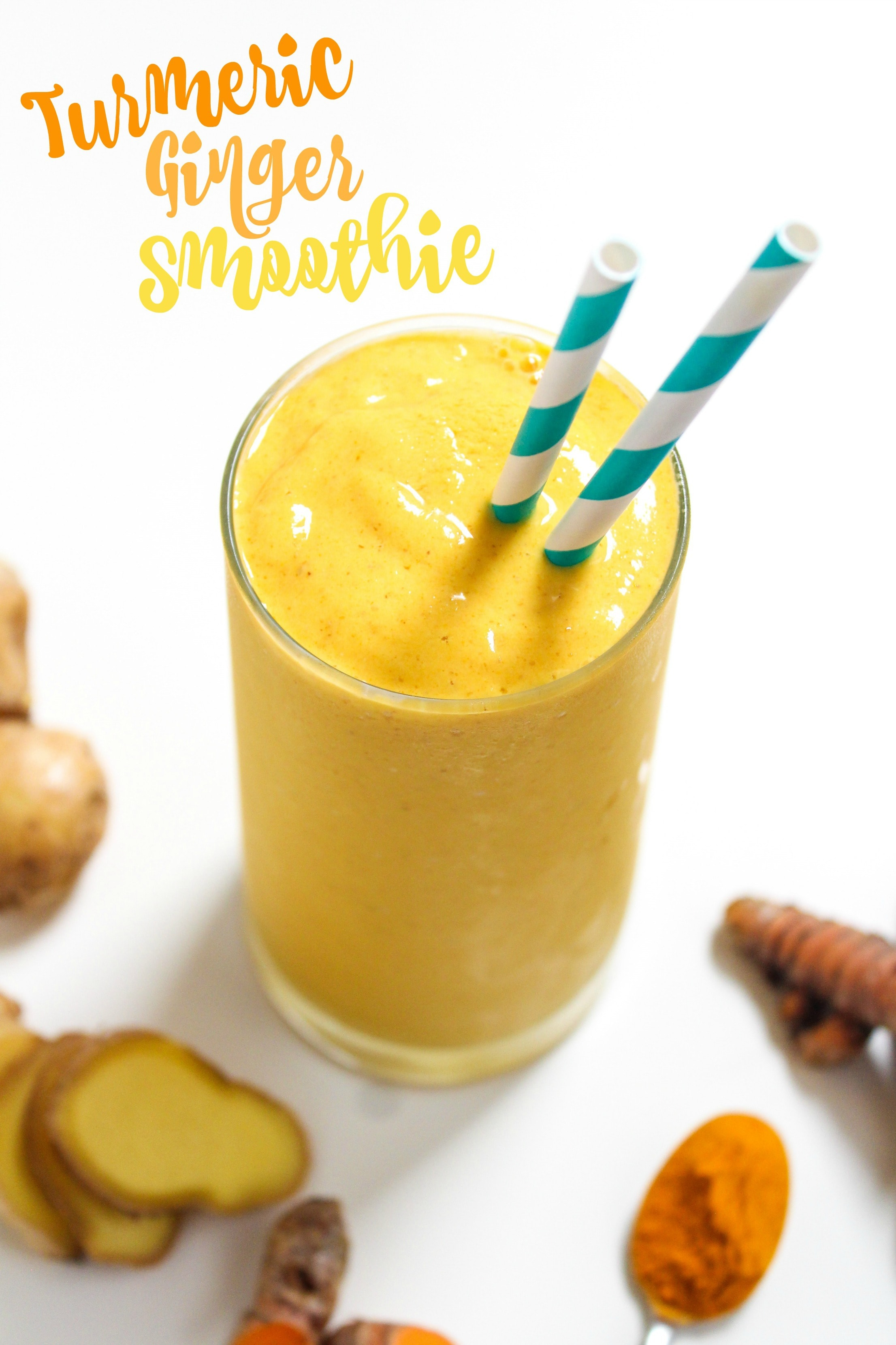 This Turmeric Ginger Smoothie is sweet, spicy, creamy, and packed with nutritious ingredients!