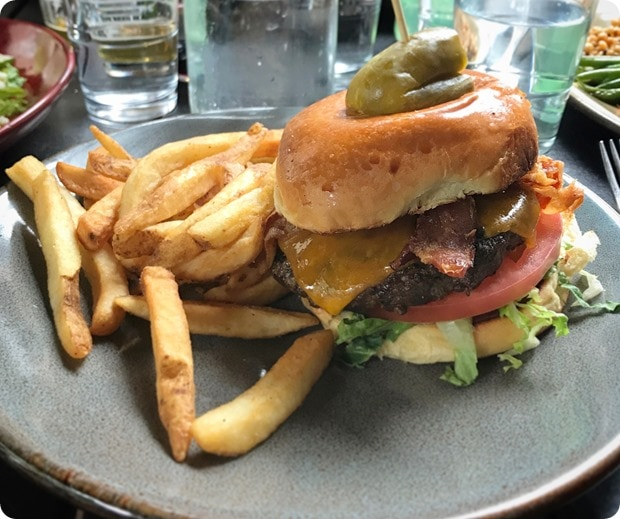 virtue feed and grain burger fries
