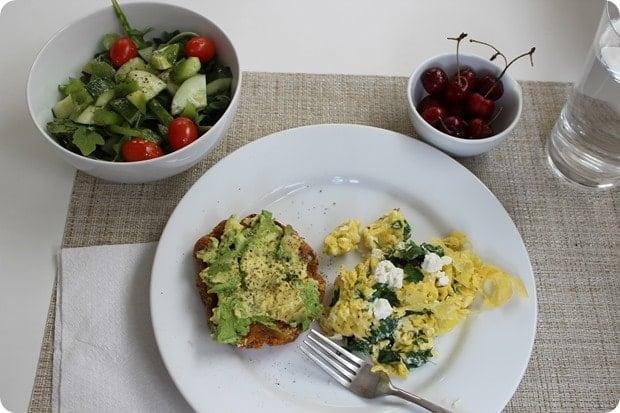 healthy vegetarian lunch