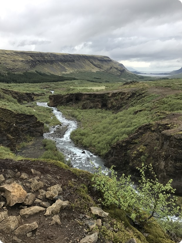 glymur waterfall hike iceland