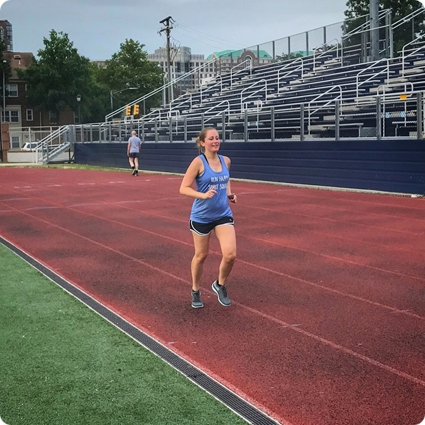pregnant track workout