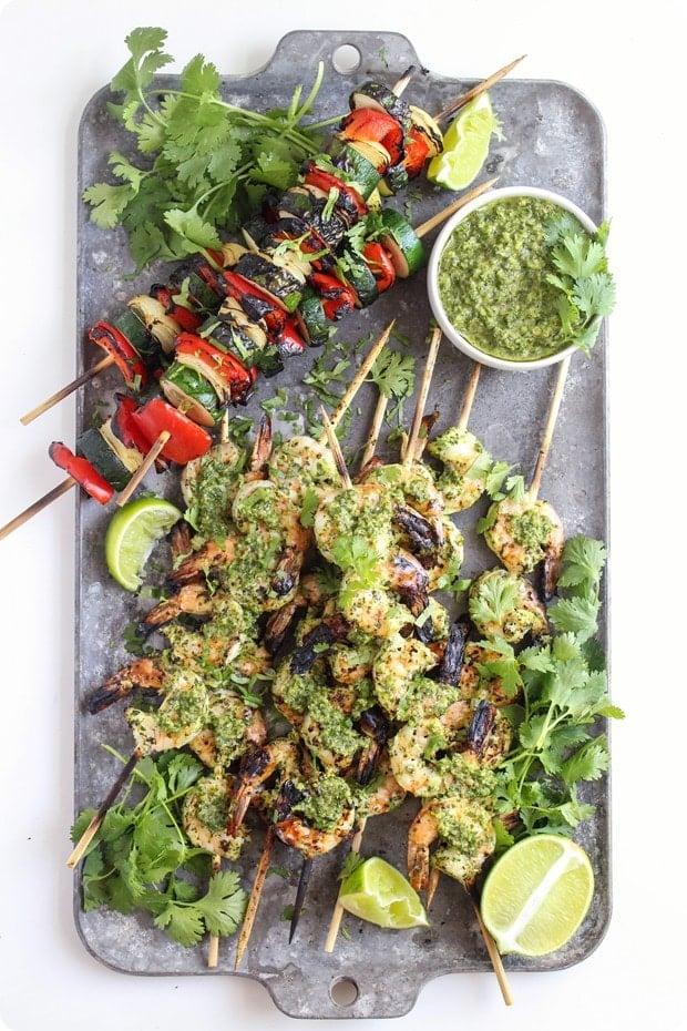 chimichurri grilled shrimp 1