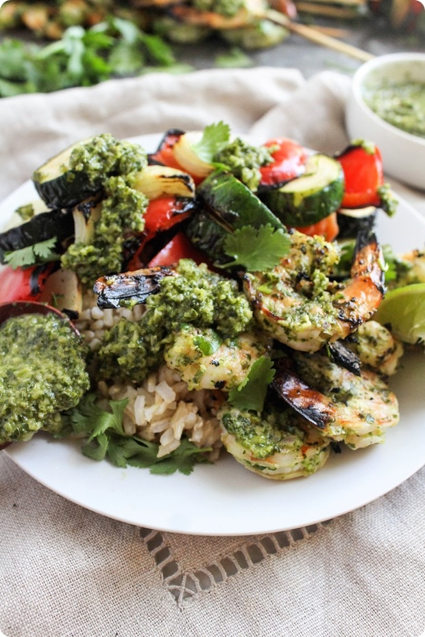 chimichurri grilled shrimp 9