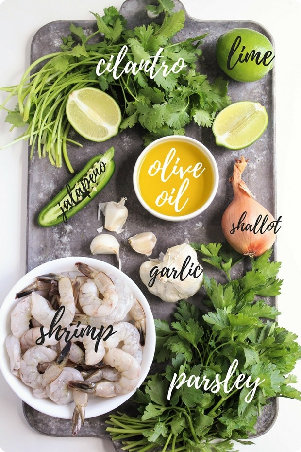 chimichurri shrimp ingredients