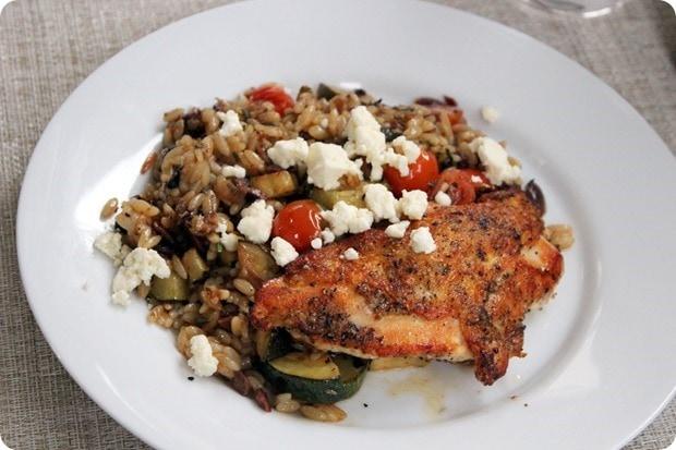 chicken with orzo veggies