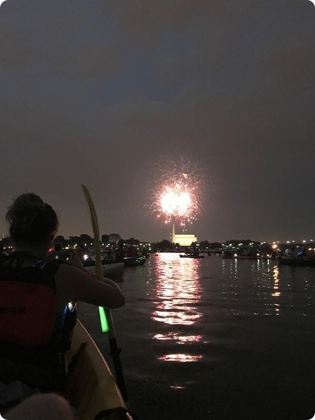 dc fireworks via kayak