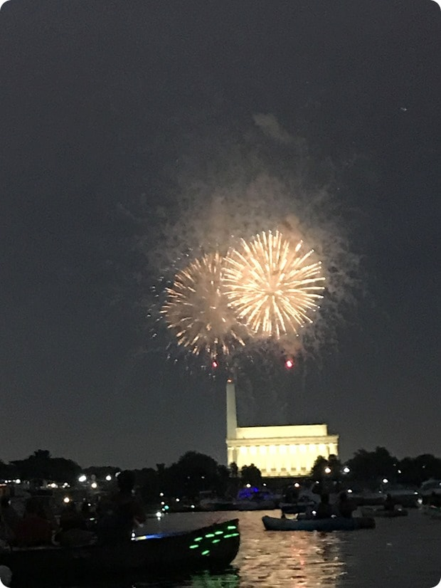 dc fireworks from the water