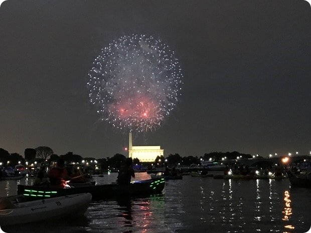 dc fireworks from a kayak