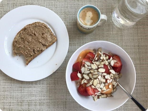 post-run pregnant breakfast