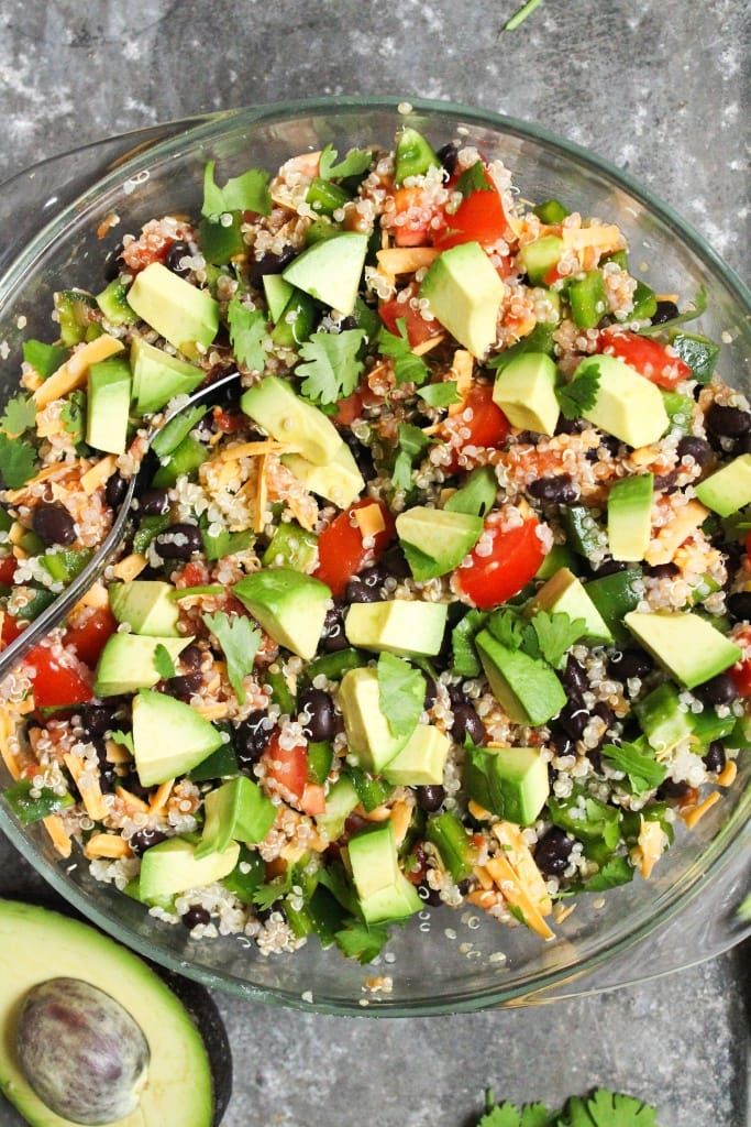 intuitive eating lunch quinoa taco salad