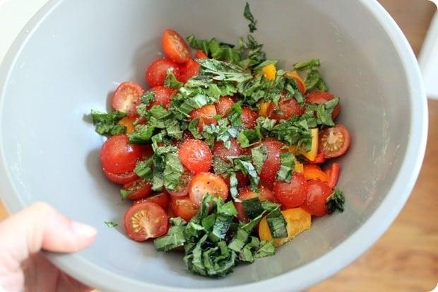 summery tomato basil