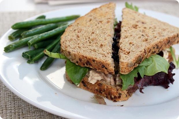tuna artichoke sandwich