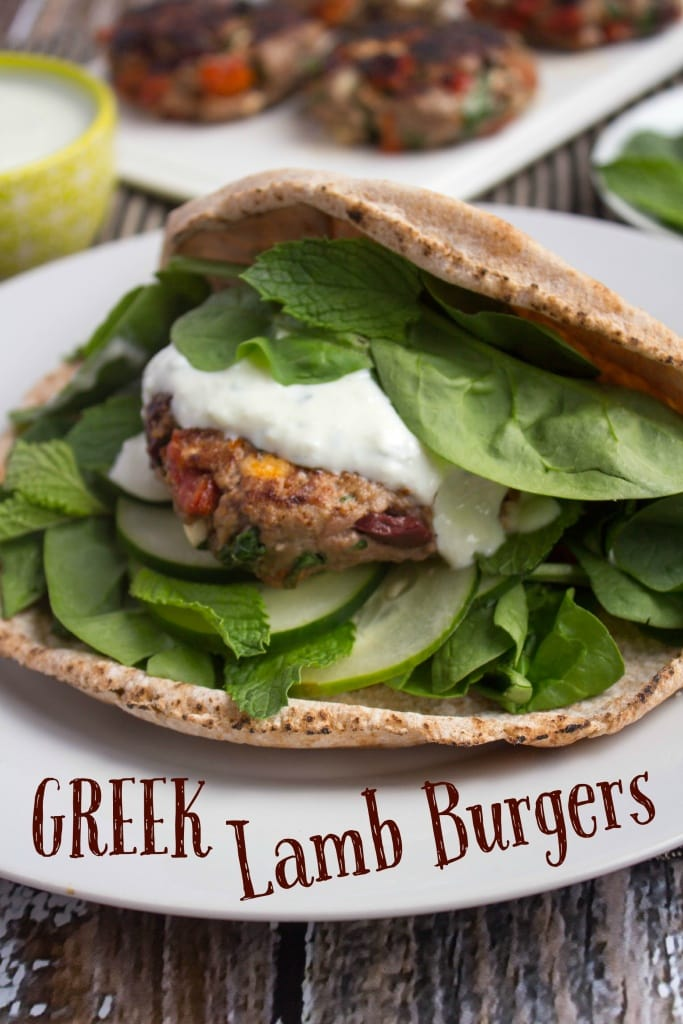 healthy labor day recipes - greek lamb burgers