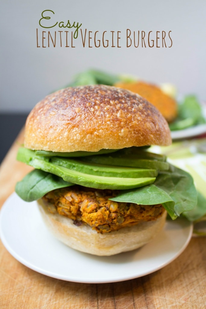 healthy labor day recipes - lentil veggie burgers