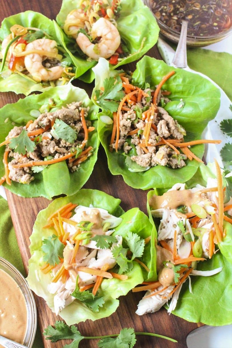 Healthy Lettuce Wrap Recipes - 3 ways