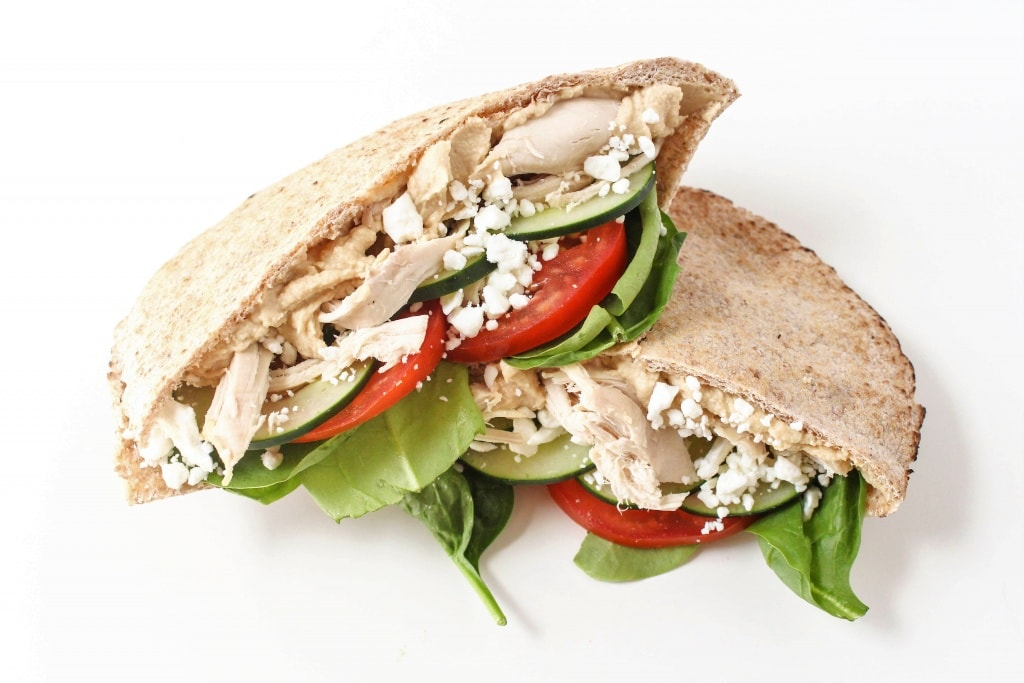Healthy Sandwich Recipes - Mediterranean Chicken Pita