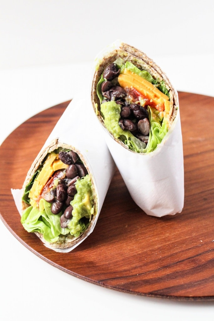 Healthy Sandwich Recipes - Mexican Black Bean Wrap