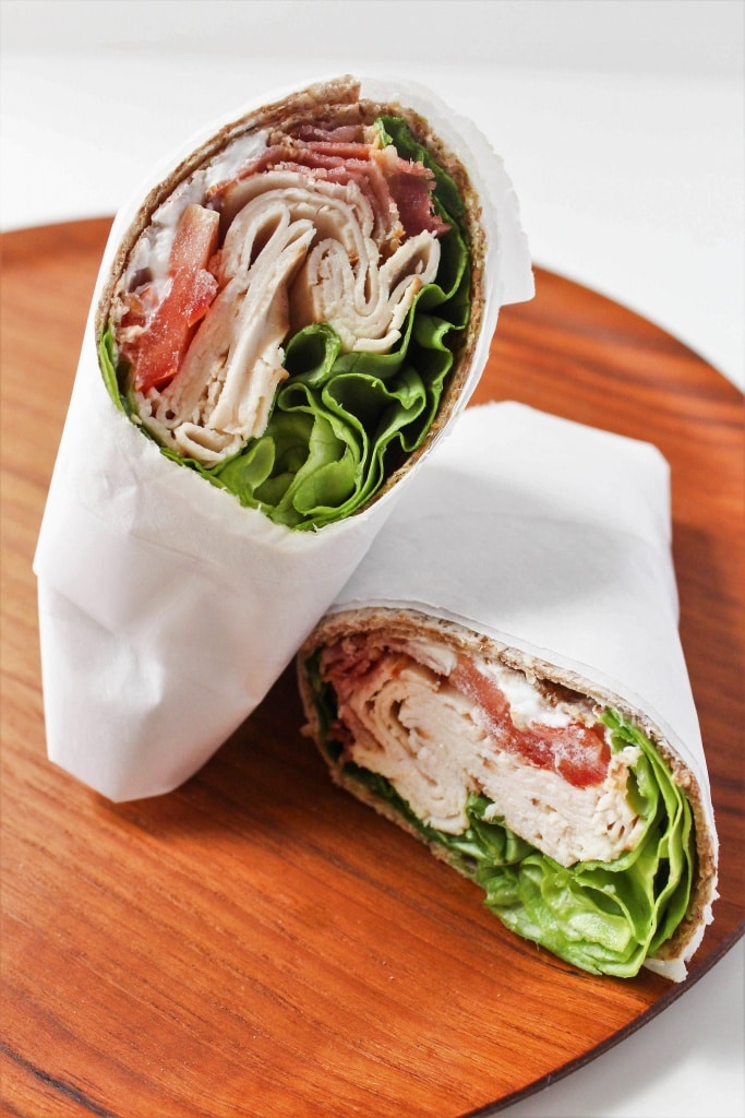 Healthy Sandwich Recipes - Turkey BLT Wrap