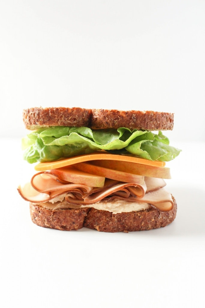 Healthy Sandwich Recipes - Turkey Apple Cheddar Sandwich