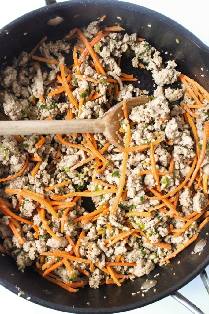 Healthy Lettuce Wrap Recipes - ground turkey