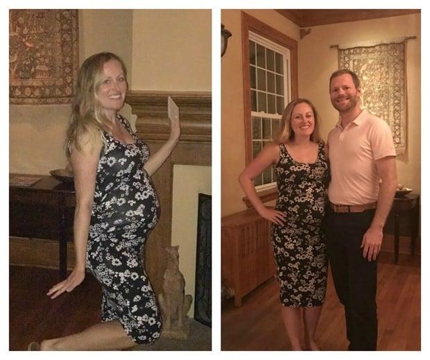 7 months pregnant bump