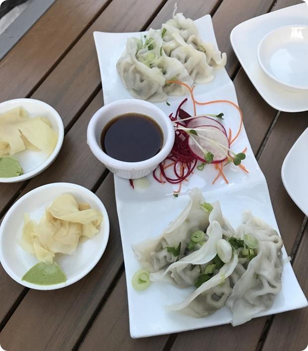 sushi rock kobe dumplings