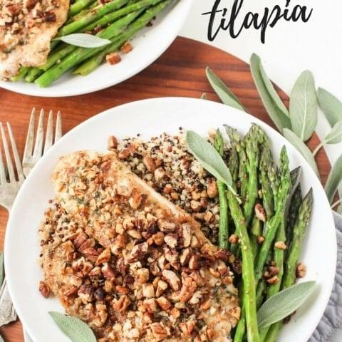 Sage & Pecan Crusted Tilapia