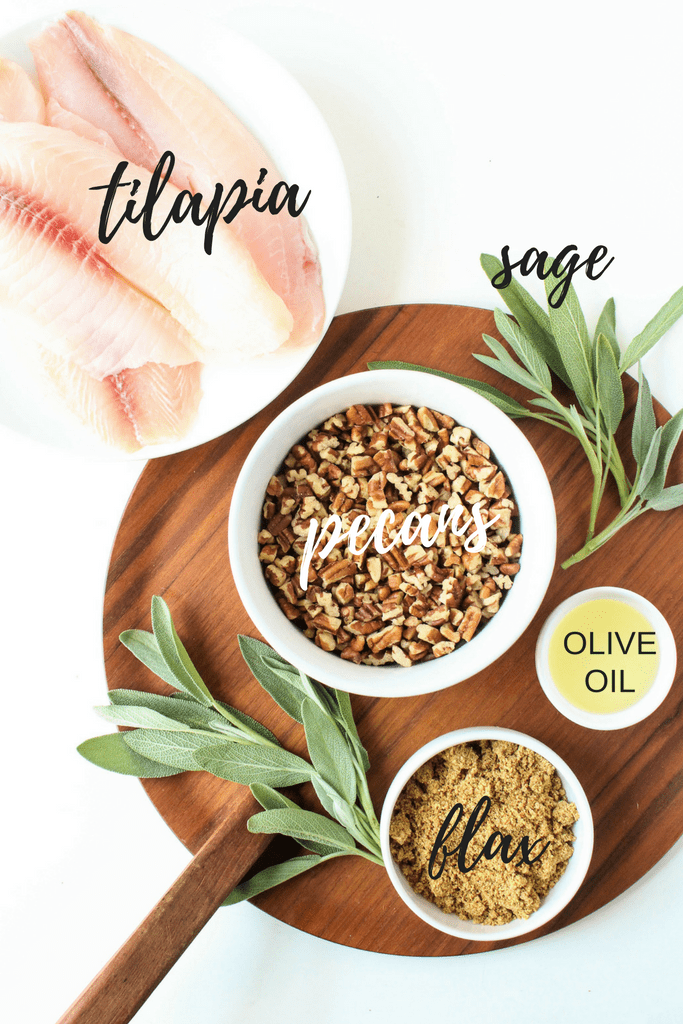 Sage & Pecan Crusted Tilapia Ingredients