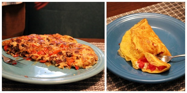his vs. hers omelettes