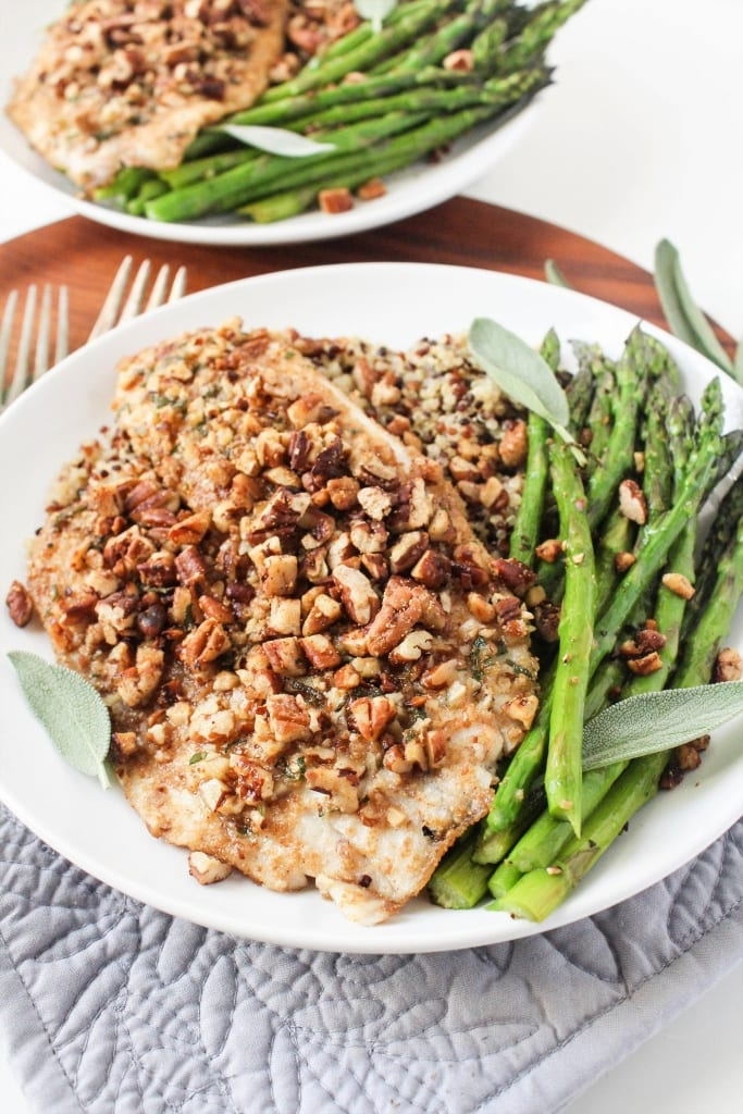 Sage & Pecan Crusted Tilapia recipe