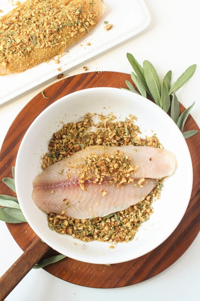 how to make Sage & Pecan Crusted Tilapia