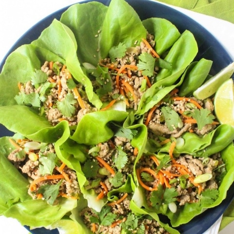 Sesame Ginger Turkey Lettuce Wraps