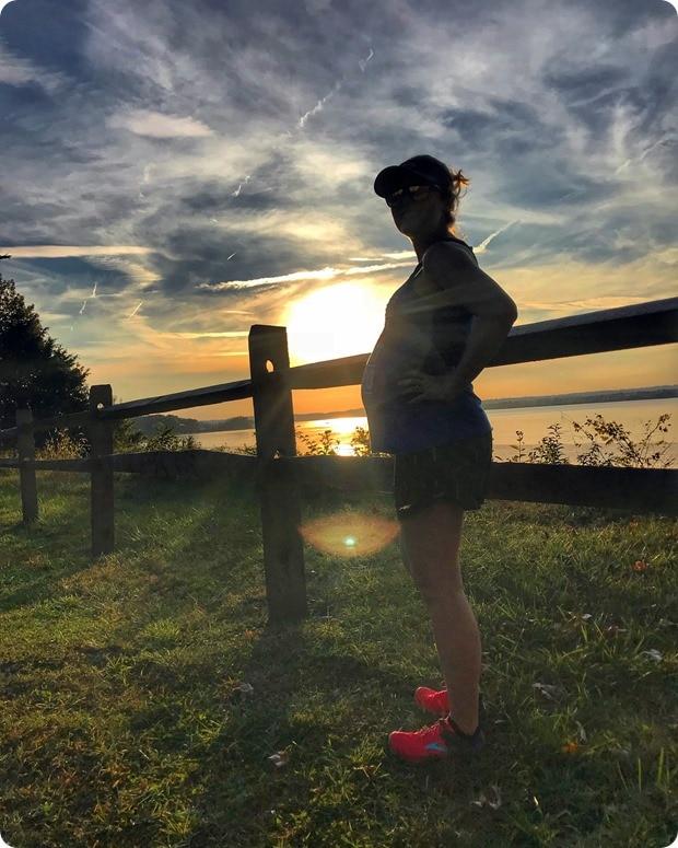 36 week pregnant hike