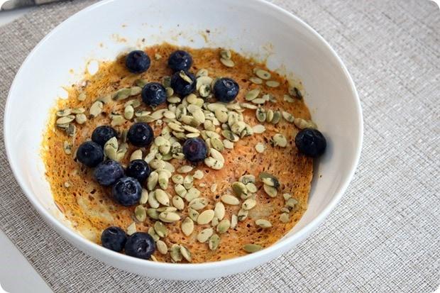 flour free breakfast pancake pumpkin