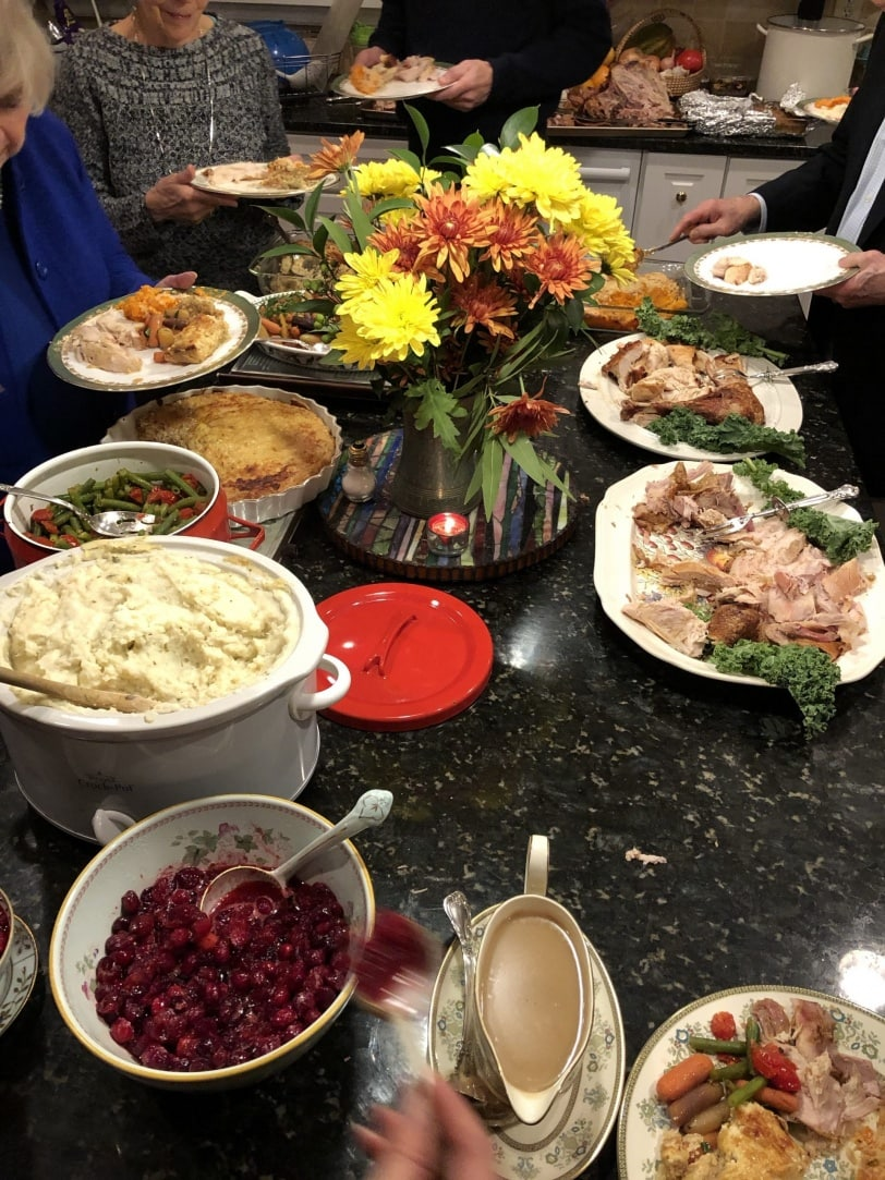 how to not be stressed out by buffet holiday dinners