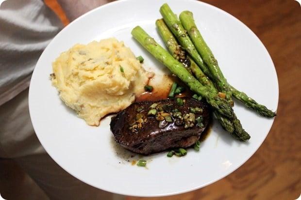 blue apron steak mashed potatoes