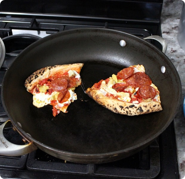 best way to reheat leftover pizza