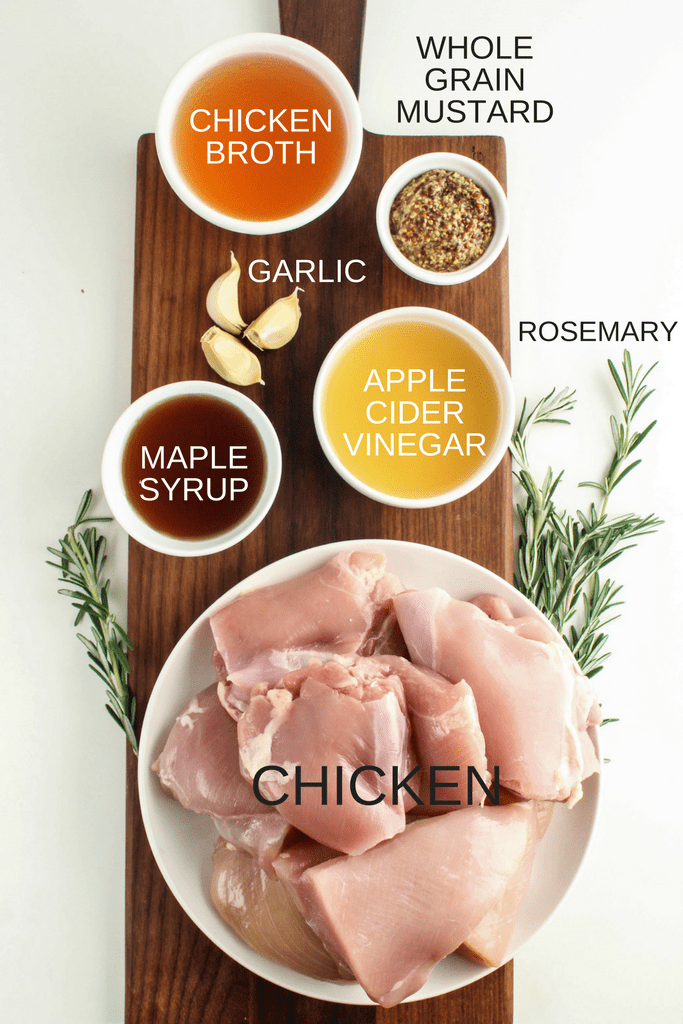 This Instant Pot Maple Mustard Chicken is quick, easy, healthy, and packed with TONS of flavor. Make it for an easy weeknight dinner or to impress guests!