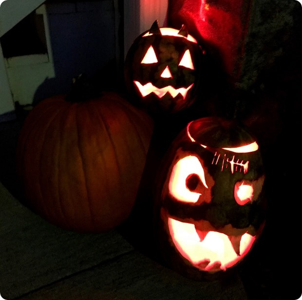 halloween watermelon jack o lanterns